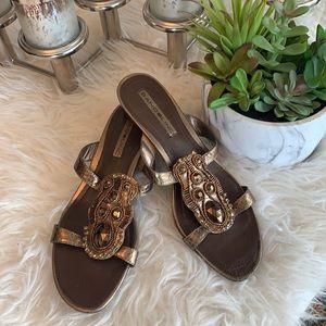 Bandolino gold summer sandal size 7.5